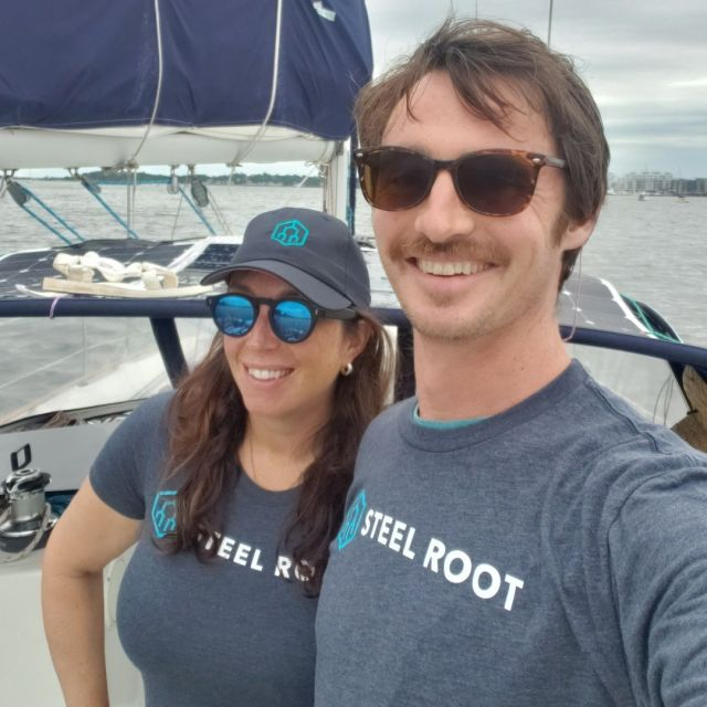 Mr. Wills and Wendy looking SHARP at sea in branded apparel. So much respect for Brian's commitment to detail with the undershirt in SR Teal®.