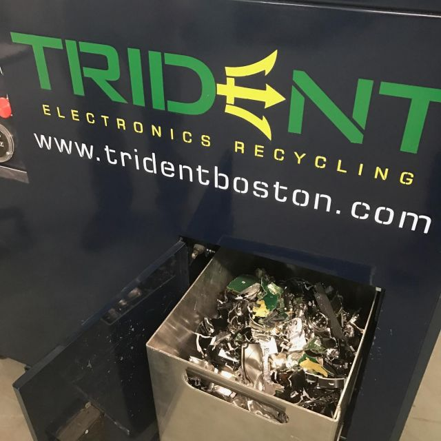 What happens to your hard drive when Steel Root replaces your computer? We partner with @tridentelectronicsrecycling in #salemma to securely destroy all hard drives and memory. Wait, do I see some crushed beer cans in there? Wasn't us!